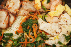 Closeup of Singapore noodles. Closeup of Chinese dish, Singapore noodles stock photos