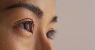Closeup of single Japanese woman's eye Stock Photo