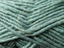 Closeup of skein of green yarn Royalty Free Stock Photos