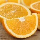 Closeup skivade apelsinfrukter Arkivfoto