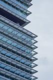Closeup of skyscraper. Detail of modern building Stock Images