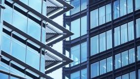 Closeup skyscraper glass windows,urban morden business buildings district. Office building in shanghai lujiazui finance center,urban morden business buildings stock footage