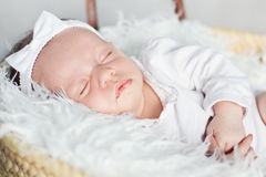 Closeup of a sleeping baby Stock Image