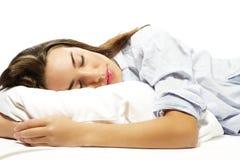 Closeup of a sleeping woman Stock Photo