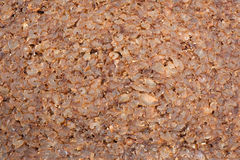 Closeup of slice of brown rye bread Royalty Free Stock Image