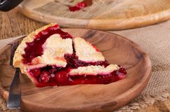 Cherry Pie Slice Royalty Free Stock Photography