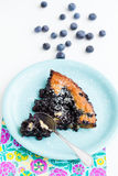 Blueberry pie slice Stock Photography