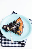Blueberry pie slice Royalty Free Stock Photos