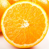 Closeup of a Slice of Orange Royalty Free Stock Images