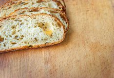 Closeup of sliced bread Royalty Free Stock Image