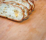 Closeup of sliced bread Royalty Free Stock Photography