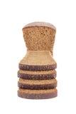 Closeup of sliced brown bread. Stock Photos
