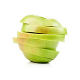 Closeup sliced green apple Royalty Free Stock Photography