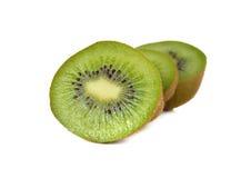 Closeup sliced kiwi fruit on white Royalty Free Stock Photo