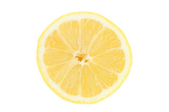 Closeup of a sliced lemon Royalty Free Stock Photo
