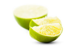 Closeup of sliced lime Stock Photos