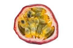 Closeup of a sliced passion fruit Stock Photos