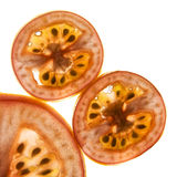 Closeup sliced tomatoes Royalty Free Stock Photo