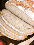 Closeup of a slices of bread. Closeup of a slices of white bread Royalty Free Stock Photos