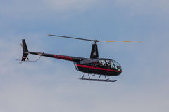 Closeup of Small Helicopter in Flight Royalty Free Stock Photo