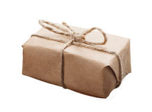 Closeup of small parcel Royalty Free Stock Photography