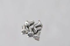 Closeup of small screws Stock Photography
