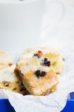 Closeup of a small stollen cake piece Royalty Free Stock Photo