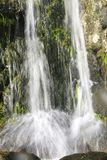 Closeup of a small waterfall Stock Image