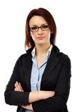 Closeup of smart young businesswoman Stock Photography