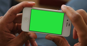 Closeup of smartphone with chromakey Royalty Free Stock Images