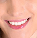 Closeup of smile with white healthy teeth Royalty Free Stock Photo