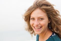 Closeup of smiling attaractive woman Royalty Free Stock Photos