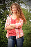 Closeup Smiling Country Teen Royalty Free Stock Images