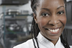 Closeup Of Smiling Female Chef stock image