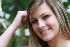 Closeup of smiling girl Royalty Free Stock Photography