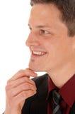 Closeup of smiling man. Stock Images