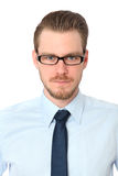 Closeup of a smiling man in glasses Royalty Free Stock Photos