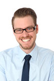 Closeup of a smiling man in glasses Royalty Free Stock Photo