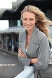Closeup of a smiling mature woman Stock Images