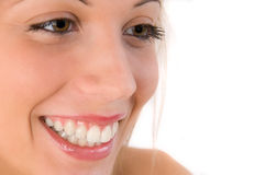 Closeup of smiling woman Royalty Free Stock Image