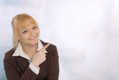 Closeup of a smiling young business woman Royalty Free Stock Photography