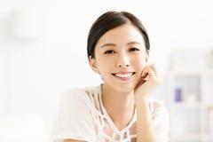 Closeup smiling young  woman face Royalty Free Stock Photos