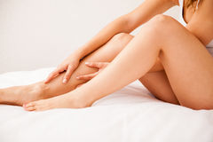 Closeup of smooth hairless legs Stock Image