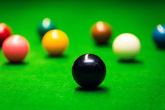 closeup of snooker balls on the table Stock Image