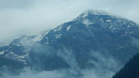 Cold Mountain. A closeup of a snow clad mountain in a giving a feeling of shivering cold Royalty Free Stock Photography