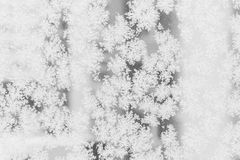Closeup of snow or ice crystals stock image