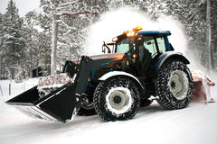 Snow plow vehicle Stock Photos