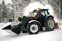 Snow plow vehicle Stock Photos