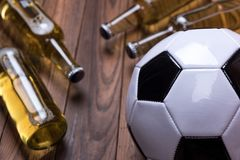 Beer Football Royalty Free Stock Photography