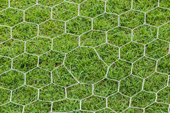 Closeup of soccer goal net. Royalty Free Stock Photo